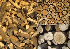 Insieme delle strutture di legno Fotografia Stock