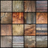 Insieme delle strutture di legno delle plance Immagini Stock Libere da Diritti