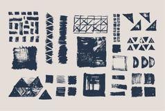 Insieme delle strutture geometriche di vettore Modelli della raccolta Fotografia Stock Libera da Diritti