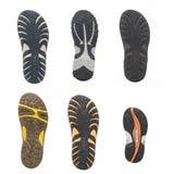 Insieme delle suole di scarpe di sport Fotografia Stock