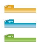 Insieme delle tabulazione dell'arricciatura della pagina Immagini Stock