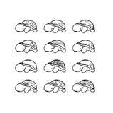 Insieme delle tartarughe con le coperture sveglie Immagini Stock Libere da Diritti