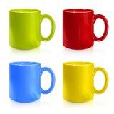 Insieme delle tazze colorate illustrazione di stock