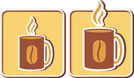 Insieme delle tazze di caffè Immagini Stock