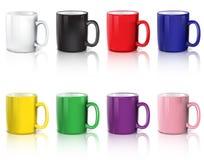 Insieme delle tazze di caffè illustrazione vettoriale