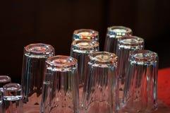 Insieme delle tazze di vetro Fotografia Stock