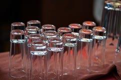 Insieme delle tazze di vetro Fotografia Stock Libera da Diritti