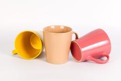 Insieme delle tazze variopinte Immagine Stock Libera da Diritti