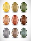 Insieme delle uova di Pasqua. Fotografie Stock