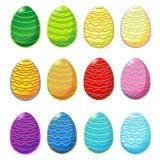 Insieme delle uova di Pasqua Fotografia Stock