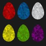Insieme delle uova di Pasqua Fotografie Stock Libere da Diritti