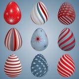 Insieme delle uova di Pasqua colourful royalty illustrazione gratis