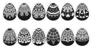 Insieme delle uova di Pasqua differenti Vettore royalty illustrazione gratis