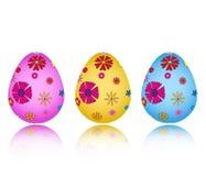 Insieme delle uova di Pasqua ENV Fotografie Stock Libere da Diritti