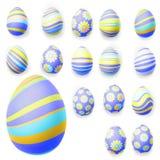 Insieme delle uova di Pasqua ENV 10 Immagini Stock