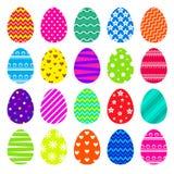 Insieme delle uova di Pasqua variopinte Immagine Stock Libera da Diritti