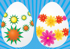 Insieme delle uova per pasqua Immagine Stock