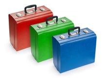 Insieme delle valigie Fotografie Stock Libere da Diritti