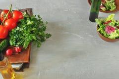 Insieme delle verdure con lo spazio della copia Immagini Stock Libere da Diritti