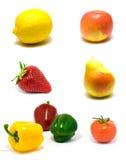 Insieme delle verdure e delle frutta Immagini Stock