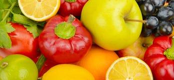 Insieme delle verdure e delle frutta Fotografia Stock Libera da Diritti