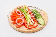 Insieme delle verdure su priorità bassa bianca immagini stock