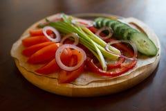 Insieme delle verdure su priorità bassa bianca fotografie stock libere da diritti