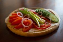 Insieme delle verdure su priorità bassa bianca immagini stock libere da diritti