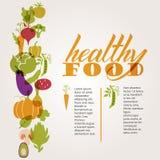 Insieme delle verdure Tavola sana dell'alimento Fotografia Stock