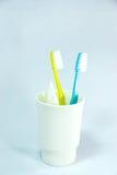 Insieme dello spazzolino da denti Immagini Stock