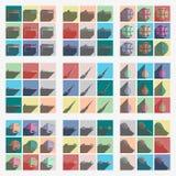 Insieme dello sport con progettazione moderna piana dell'ombra Illustrazione di Stock
