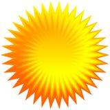 Insieme dello sprazzo di sole geometrico arancio, fondo dello starburst Fotografia Stock Libera da Diritti