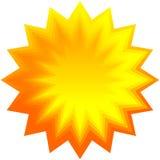 Insieme dello sprazzo di sole geometrico arancio, fondo dello starburst Fotografia Stock