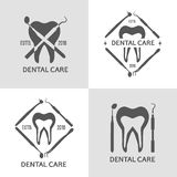 Insieme dentario di logo Immagine Stock