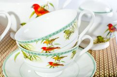 Insieme di Тea, servizio di tè Immagini Stock Libere da Diritti
