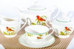 Insieme di Тea, servizio di tè Fotografia Stock