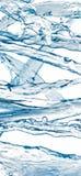 Insieme di acqua che spruzza isolato sul bianco Fotografia Stock