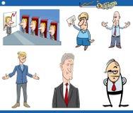 Insieme di affari del fumetto Immagini Stock Libere da Diritti