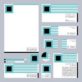 Insieme di affari di progettazione corporativa geometrica royalty illustrazione gratis