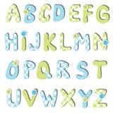 Insieme di alfabeto Immagini Stock