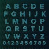 Insieme di alfabeto di vettore Immagini Stock