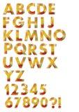 Insieme di alfabeto progettato nel mosaico di colore di autunno Fotografia Stock