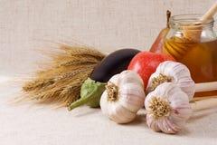 Insieme di alimento naturale Immagini Stock