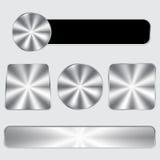 Insieme di alluminio del bottone Fotografie Stock
