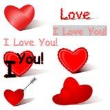 Insieme di amore illustrazione di stock