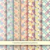 Insieme di Argyle Sweater Backgrounds senza cuciture illustrazione vettoriale