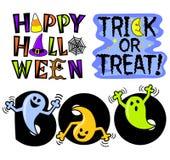 Insieme di arte di clip di Halloween Immagini Stock