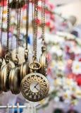 Insieme di attaccatura degli orologi da tasca Immagini Stock Libere da Diritti
