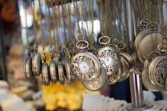 Insieme di attaccatura degli orologi da tasca Fotografie Stock