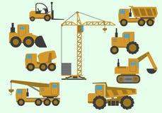 Insieme di attrezzatura per l'edilizia Immagini Stock Libere da Diritti